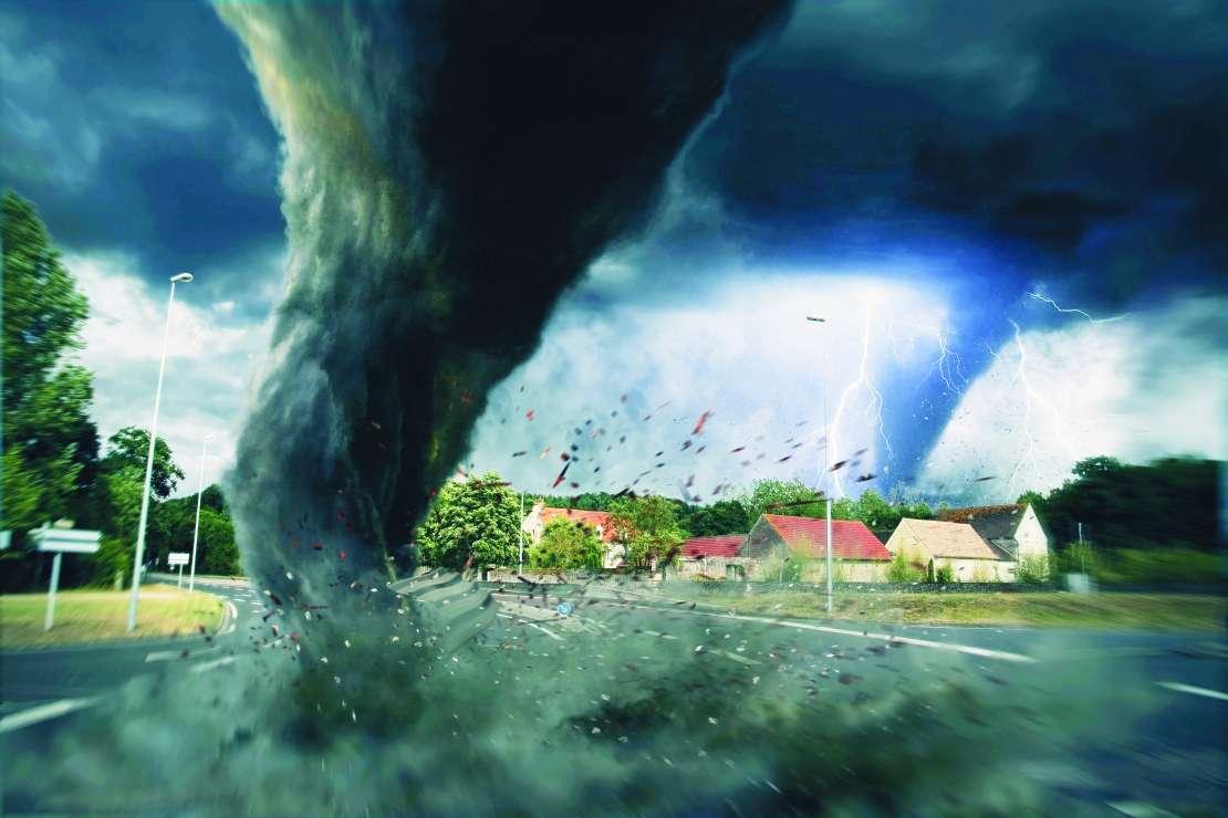 vreme, neurje, tornado, nevihta, strela
