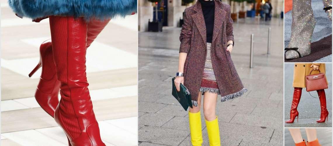 Modna jesen: Adijo črni, pozdravljeni barvni škornji!