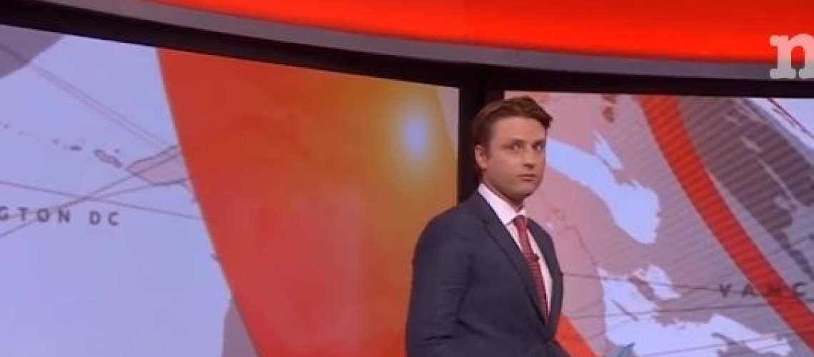 Sramota: Televizijski voditelj ni vedel, da ga snemajo