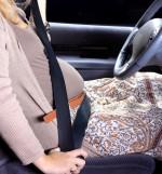 nosečnica, varnostni pas, avto