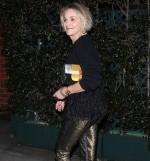 sharon stone obleka zlate hlače