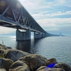 oresund, most med dansko in švedsko