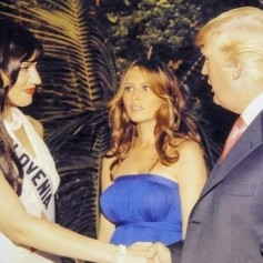 Donald Trump, Melania Trump in Nataša Pinoza