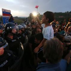 begunci na meji slovenija