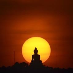 buda, sonce, zahod, budizem