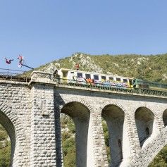 Lani so na premikajočem se vlaku, ko je ta prečkal solkanski most, zabijali koše
