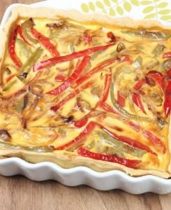 Slastna pita s čebulo in papriko