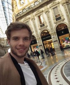Mister Slovenije v Milanu na lovu za novo denarnico