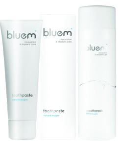 Zobna pasta in ustna voda BLUEM® – čisti kisik in med za ustno nego