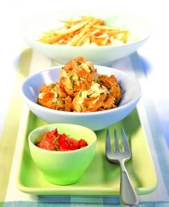 Preprosto kosilo: Ribe, zelenjava in sočna sladica