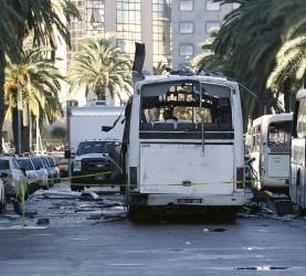 avtobus, tunis, bomba