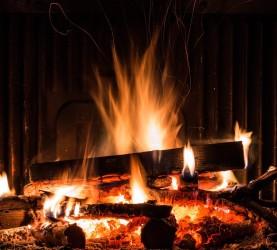kamin, ogenj