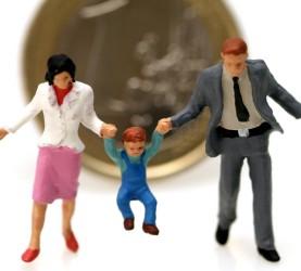denar, otroci, družina