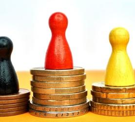 finance, denar, varčevanje, kovanci, stolpci,