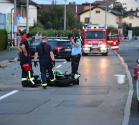 Prometna nesreča, Črenšovci, policija, motorist