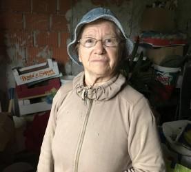 Marija Vogrin, Spodnja Korena, narasel potok