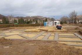 Začeli graditi nov poslovilni objekta na pokopališču v Krškem