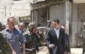 Asad: Teroristi se skrivajo med begunci iz Sirije