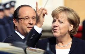 Hollande Merklovi očita blokado bančne unije