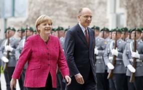 Letta v Berlinu začel evropsko ofenzivo; Merklova mu želi srečo