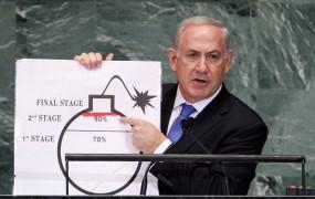 Netanjahu z bombo v Združenih narodih: Bojte se Irana