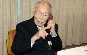 Najstarejši Zemljan na Japonskem praznoval 112. rojstni dan