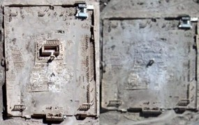 Tempelj v Palmiri: satelitski posnetki potrjujejo uničenje