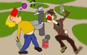 Pospravljamo podstrešje: Heureka! Poslanci SMC odkrili varno pitno vodo