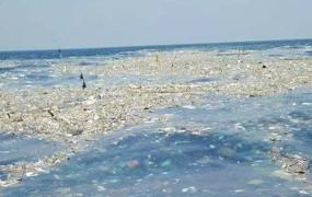 V tajskem morju plava 300 ton težka gmota smeti