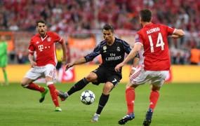 Ronaldo v Münchnu v zgodovino s 100. golom na evropskih tekmah
