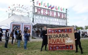 V Kranju odrekli gostoljubje cirkusu, ki ga obtožujejo mučenja živali
