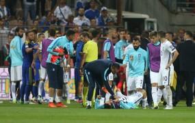 Pretep Bosancev in Grkov v Zenici, grški nogometaš ostal brez dveh zob