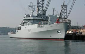 V Kopru naval na britansko vojaško ladje Enterprise