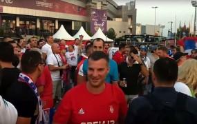 VIDEO: Slovenski in srbski navijači skupaj izzivajo Hrvate