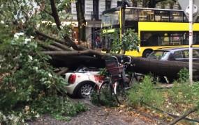 V divjanju viharja Xavier v Nemčiji umrlo sedem ljudi, ujetih v avtomobilih