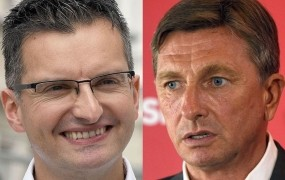 Mediana napoveduje: Pahor v drugi krog s Šarcem