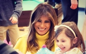 Prva dama ZDA na valentinovo obiskala bolne otroke