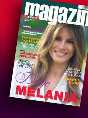Izšel je novi Reporter Magazin: Dosje Melania Trump