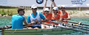 Podjetniki so se pomerili v veslanju, enem izmed najbolj okolju prijaznih športov