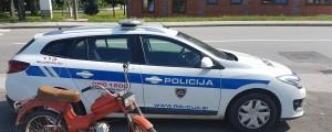 slovenska policija, moped, motor