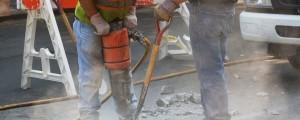 gradbeniki delavci