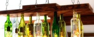lestenec iz steklenic