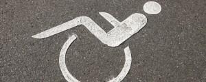 prometni znak, invalidski voziček, cestna talna oznaka,