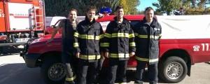 Jernej Bavčar (drugi z leve) opozarja na pomembnost natančnih informacij ob klicu na 112