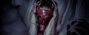 Jedrska vojna, atomska vojna, jedrska bomba, atomska bomba, plinska maska