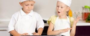 kuhanje, otroci, kuharja,