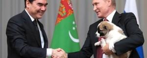 vladimir putin,kužek, zvesti, turkmenistan
