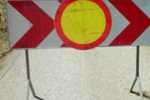 Zapora ceste v Brežicah