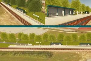 Začetek urejanja železniškega postajališča pri Šolskem centru