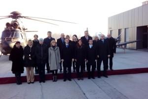 Vladna ekipa na delovnem posvetu ob obisku Posavja